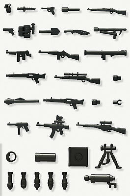 WWII Weapons (x16) - Compatible with Lego - Guns - Military - Army - Soldier