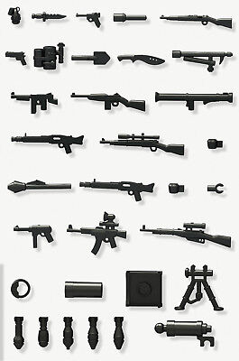 WWII Weapons (x16) - Lego Compatible - Guns - Military Army Soldier