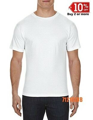 LOT 5 PACK ALSTYLE APPAREL AAA T SHIRT WHITE 1301 Men's Short Sleeve T Shirts