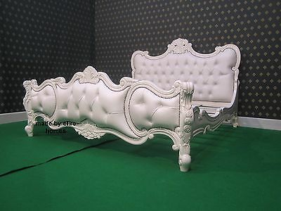 High Quality UK Super King Size 6' White or Ivory Baroque Chatelet® Bed