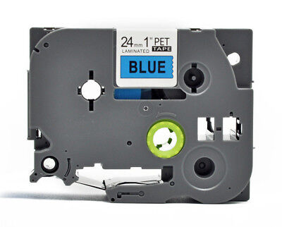 Compatible Brother Black on Blue TZ 551 Label Tape PTouch TZe-551 laminated 24mm