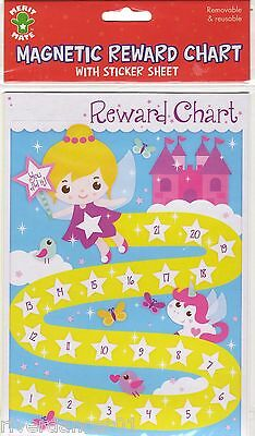 MAGNETIC REWARD CHART 115 STICKERS Removable Reusable ~ BNIP