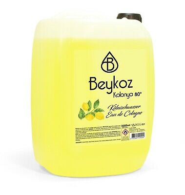 Beykoz Premium Lemon Cologne 80° Duftwasser Limon Kolonya 5000 ml (4,18 € pro l)