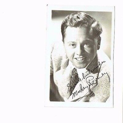 Mickey Rooney photo with facsimile autograpgh