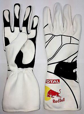 New Kart Racing Gloves- Infinity RedBull Gloves White UK Seller