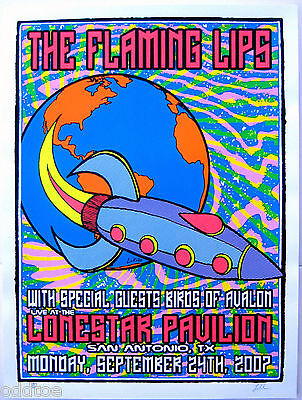 THE FLAMING LIPS Original S/N 2007 Concert Poster by Lindsey Kuhn - San Antonio