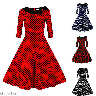 Femmes Rockabilly Robe de Pin Up Retro Vintage années 50s 60s Swing House Robes