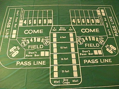 Pool Table Dust Cover - Craps Pool Table Cover Dice Table Layout  Monte Carlo