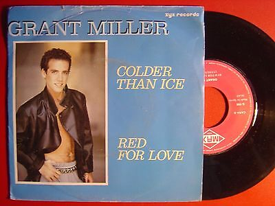 GRANT MILLER golder than ice / red for love SPANISH 45 MAX MUSIC 1986 EURO DISCO