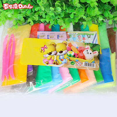 12/24 Color Plasticine Super Light Clay for DIY Model Maker Air Dry Clay Fun Toy