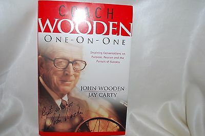 COACH WOODEN One-On-One SIGNED on COVER by John Wooden & MORE included