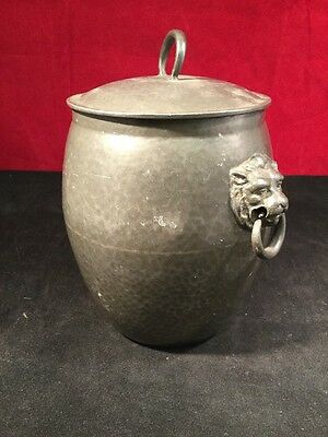 Liberty Knox Tudric Pewter 1065 Tea Caddy, Biscuit Barrel,Tobacco or Storage Jar