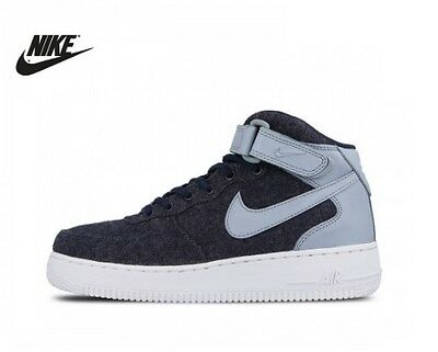 New Womens Girls PREMIUM Version Nike Air Force One Mid Hi Leather UK Size 5.5