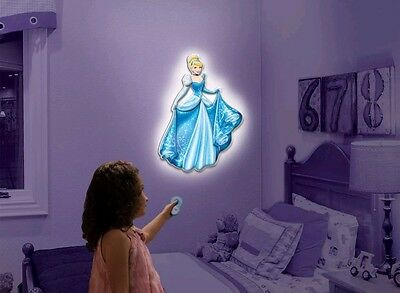 Disney Cinderella Night Light Wall Art Wall Friends Talking Room Light New
