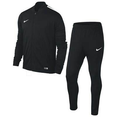 Nike Boys Kids Junior Football Tracksuit Full Training Tops Bottoms Suit Black