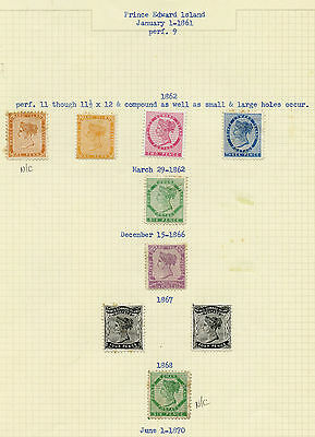 PEI Mint and Used Pence/Cents collection, 1861-1872 issues, fancy cancels CV$745