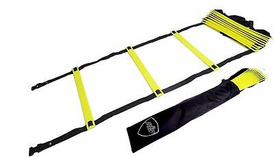 Pepup Sports Super Flat 10 Rungs Adjustable Speed Agility Ladder with Carry B...