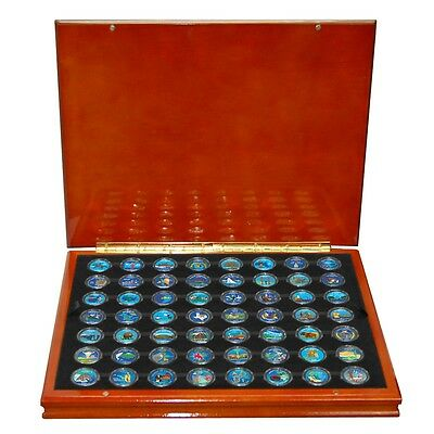 1999 - 2009 Complete Set of 50 Colorized State and 6 Territorial Quarters in Box