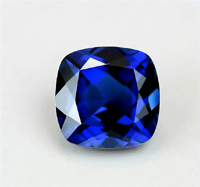 7.12CT UNHEATED ROYAL BLUE SAPPHIRE 10x10MM TOP CUSHION CUT AAAA+ LOOSE GEMSTONE