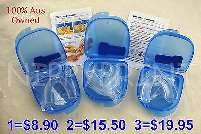 Stop Snoring Solution Anti Sleep Apnea Aid Adjustable Mouthpiece Mouth Guard