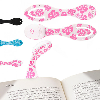 LED Book Light Easy Clip On Reading Lamp that Doubles as a Bookmark, New