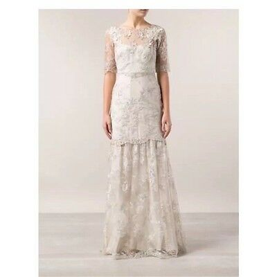 Marchesa Notte embroiled lace gown size 16