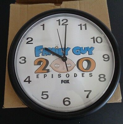FAMILY GUY Telivision Show 200 EPISODES Wall Clock PROMO Fox 2012 New In Box