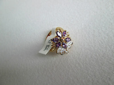 70er Vintage Designer Sarah Coventry sign. opulenter Cocktail Ring Gr. 16