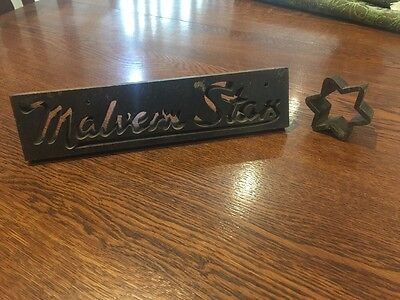 Vintage Antique Malvern Star Racing Jersey Letter Dye Punch Bruce Small Bicycle