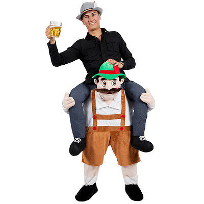Bavarian Beer Guy Ride On Mascot Piggy Back Carry Me Oktoberfest party Costume