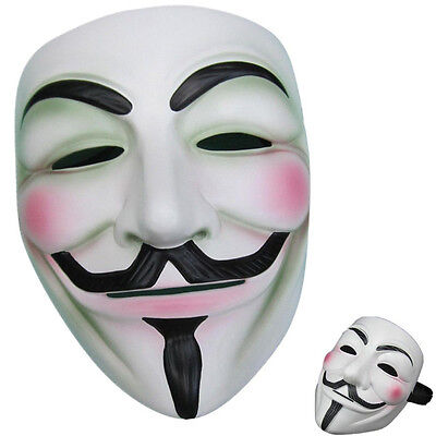 Masquerade Anonymous V for Vendetta Guy Fawkes Fancy Dress Hallowee Face Mask
