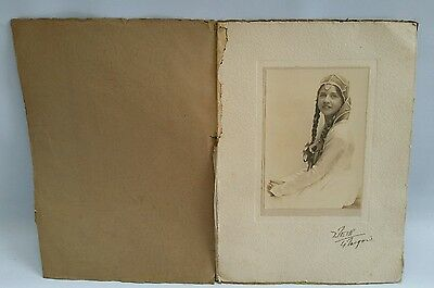 Vintage 1920s Mounted Photograph of Girl/Lady By Weir Byres Rd Glasgow Scotland