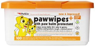 Petkin Paw Wipes, Orange Scent, 100-Count Pack