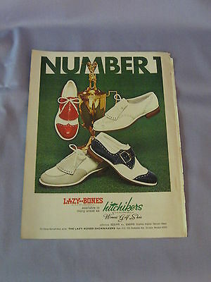 Vintage Advertisment Lazy Bones Hitchikers Number 1 Women's Golf Shoes 1974