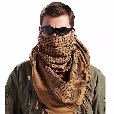 Shemagh Military Army Cotton Heavyweight Arab Tactical Desert Keffiyeh Scarf Bro