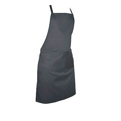 Plain Apron Kitchen Cooking Chefs Baking Pocket Craft Bbq Front Butcher catering