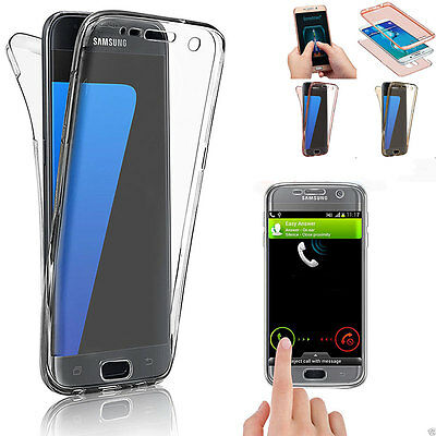 360° Silicone Clear Gel Shockproof Case Cover For Samsung Galaxy S8 S8 Plus