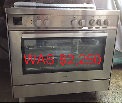 NEW $4254 Euro 90cm/900mm Freestanding Electric Oven/Stove Plus Ceramic Cooktop