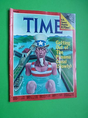 TIME magazine Europe 1977 august 22 Getting Out Of Panama Canal - Space Shuttle