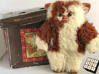 "Plush Gizmo Gremlins Spanish Prop Mogwai Doll 10"" 26cm with Box 1990 Quiron"