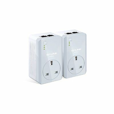 TP-Link tl-pa4020pkit NEW passthrough power line adapter starter kit 500mb