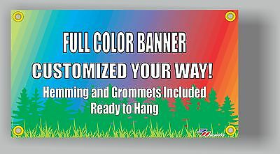 2'x6' Custom Vinyl Banner Single Sided 13oz Full Color - Free Design Included