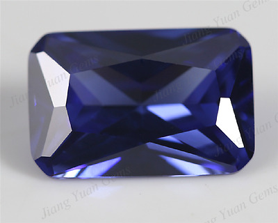 UNHEATED ROYAL BLUE SAPPHIRE 7.26ct VVS 9x11MM( EMERALD CUT)+  LOOSE GEMSTONE