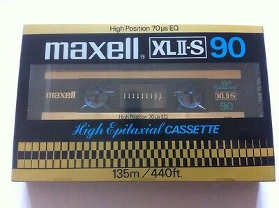 Vintage Maxell XL II S 90 Blank Epitaxial Audio Cassette Tape Type 2 JAPAN 80's