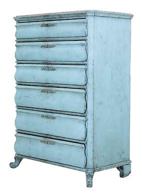 19Th Century Swedish Painted Tall Chest Of Drawers