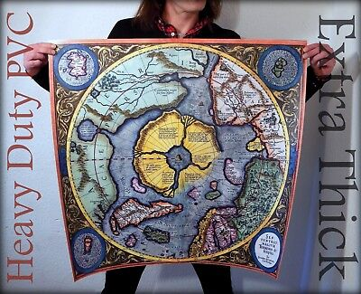 Flat Earth - G, Mercator 1613 North Pole - Septentrionalium Terrarum Descriptio