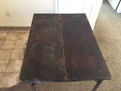 """Vintage Antique Folding Camping Wood Table 27"""" By 36"""" Circa 1940's"""