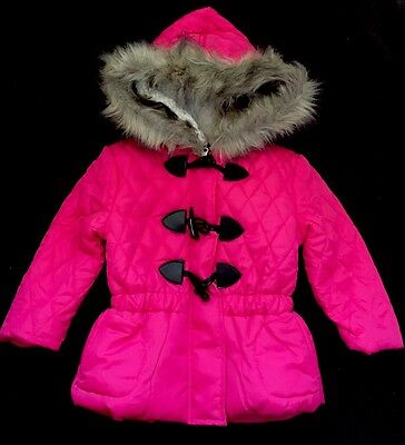 Toddler Girls 💖pink Faux Fur Hooded Jacket Size 3T New With Tags