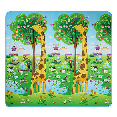 Baby Kid Toddler Play Crawl Mat Carpet Foam Blanket Rug for In/Out Doors L3T2