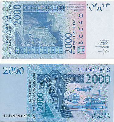 West African States / S / Guinea-Bissau - 2000 Francs 2011 XF+/aUNC - Pick New